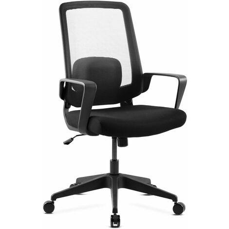 """main image of """"Silla de oficina con ruedas, silla ergonomica para escritorio con altura regulable, silla para computadora con reposabrazos, silla giratoria con respaldo reclinable y cojin lumbar"""""""
