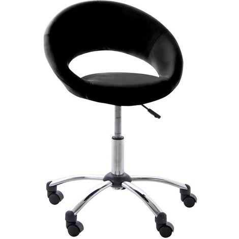 Silla de oficina de diseño negra con ruedas PINTO