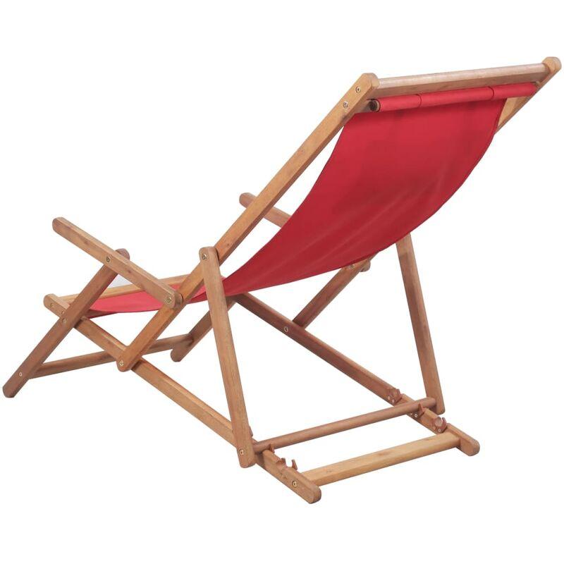 Roja Silla Plegable Madera Playa Tela De Y Estructura b7gfyY6v