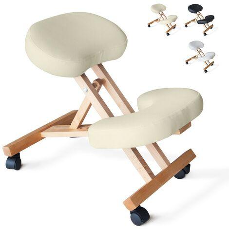Silla de rodilla de madera ergonómica espalda taburete sueco oficina BALANCEWOOD
