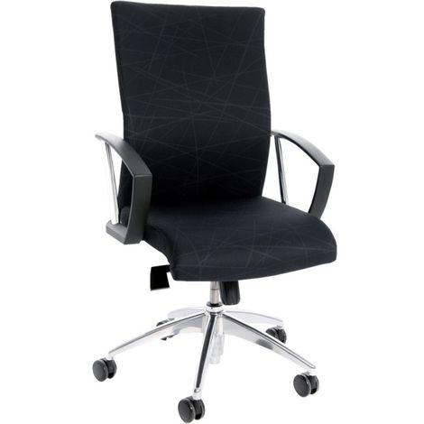 Silla escritorio giratoria New Workart negro/negro