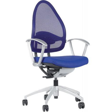 Silla escritorio giratoria Open Base 10 real azul