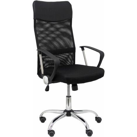 Silla Gontar respaldo malla negro asiento negro