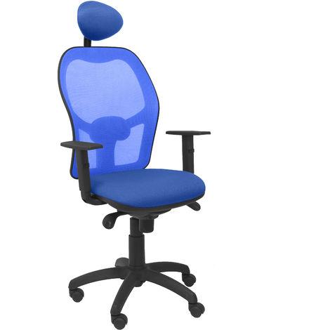 Silla Jorquera malla azul asiento bali azul con cabecero fijo