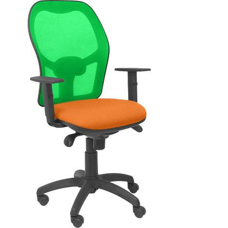Silla Jorquera malla verde asiento bali naranja
