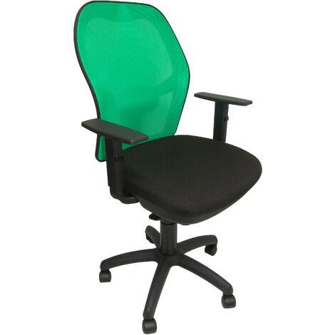 Silla Jorquera malla verde asiento bali negro