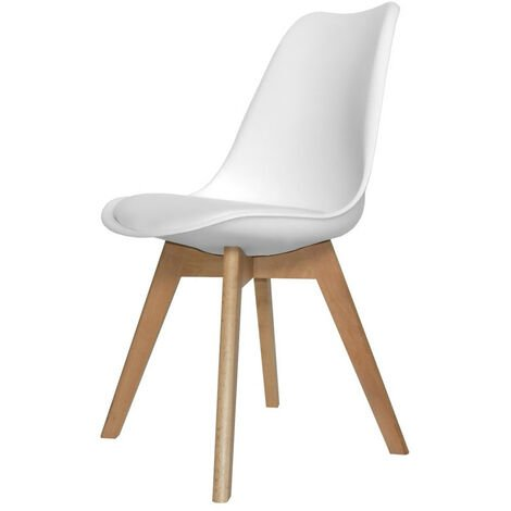 SILLA NEW TOWER WOOD BLANCA EXTRA QUALITY