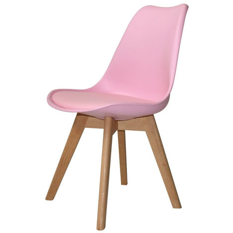 SILLA NEW TOWER WOOD ROSA EXTRA QUALITY