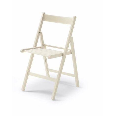 Silla Plegable Blanco Madera Vivahogar 42,5X47,5X79Cm Vh122849 122849