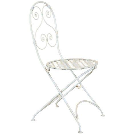 sillas forja comedor blancas