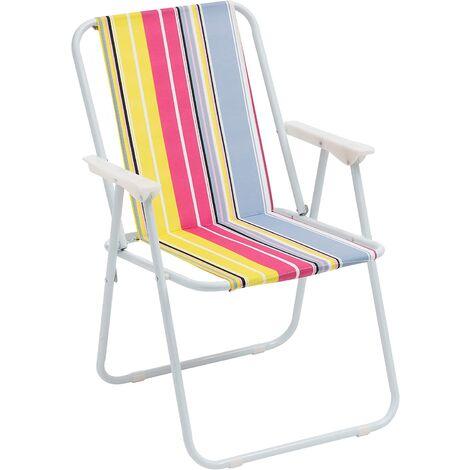 "main image of ""Silla plegable toalla, silla que acampa, jardín, playa, piscina, al aire libre plegable color, 52x44x76 cm silla amarilla"""