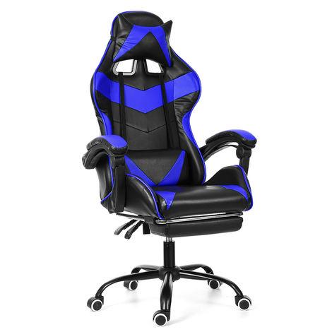 Silla Sillón de oficina Red Gaming Gamer Giratorio Racing-Reclinable 150 °