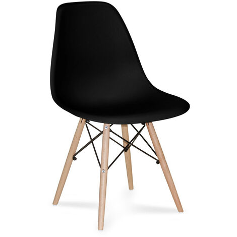SILLA TOWER WOOD NEGRA EXTRA QUALITY