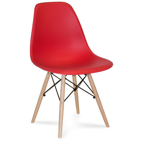 SILLA TOWER WOOD ROJA EXTRA QUALITY