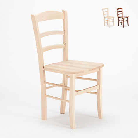"main image of ""Sillas clásicas de madera rústica para comedor bar y tabernas Paesana Wood"""