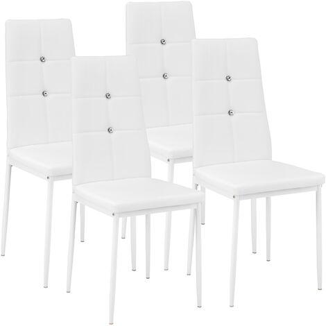Sillas de comedor Julien 4 unidades - sillas para salón de diseño, sillas de comedor elegantes con respaldo acolchado, asientos de comedor para casa