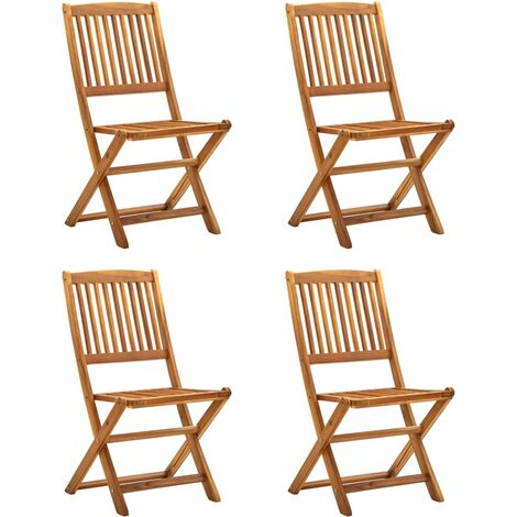 Sillas plegables de jardín 4 unidades madera maciza de acacia