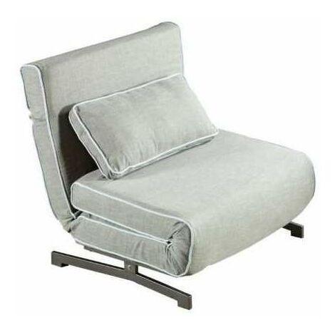 Sillón cama Harry tapizado gris 88 cm(ancho) 90 cm(altura) 92 cm(fondo).. Color Gris