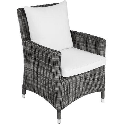 Sillón De Ratán Sanremo Mobiliario Imitación Mimbre Mueble De Ratán Sintético Impermeable Asientos De Jardín Con Estructura De Aluminio