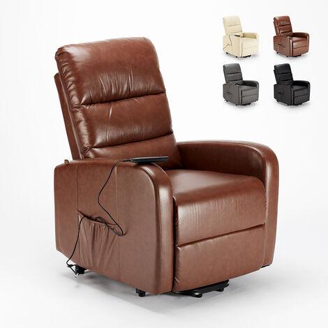 Sillón elevador eléctrico reclinable Relax de cuero polipiel ELIZABETH Design