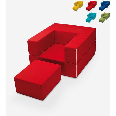 Sillón modular de diseño modular con chaise longue en tejido Free Sofa