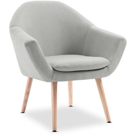 Sillon nordico comedor butaca salon dormitorio reposabrazos silla patas madera