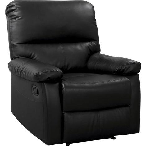 Sillón reclinable Lincoln - Color negro
