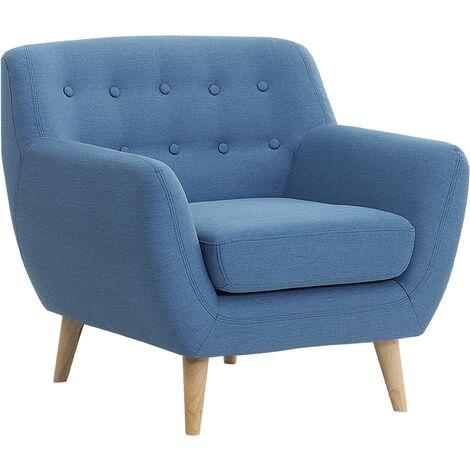 Sillón tapizado azul MOTALA