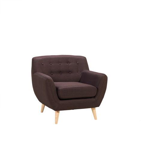 Sillón tapizado color marrón MOTALA