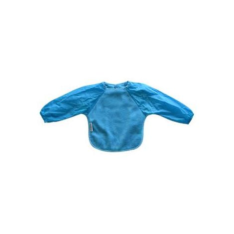 SILLY BILLYZ AQUA SMALL LONG SLEEVE FLEECE FEEDING BIB