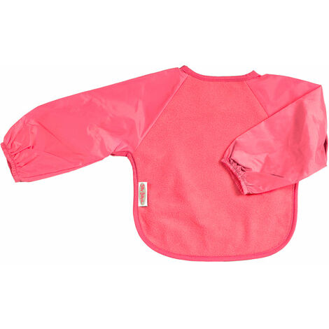 SILLY BILLYZ CERISE SMALL FLEECE QUALITY LONG SLEEVE FEEDING BIB