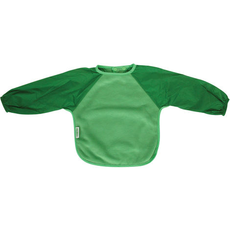 SILLY BILLYZ FERN/MOSS LARGE LONG SLEEVE FLEECE FEEDING BIB