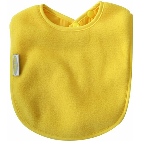 SILLY BILLYZ PLAIN LARGE BIB - YELLOW