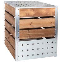 Silo à compost acier et bois 470L 470L