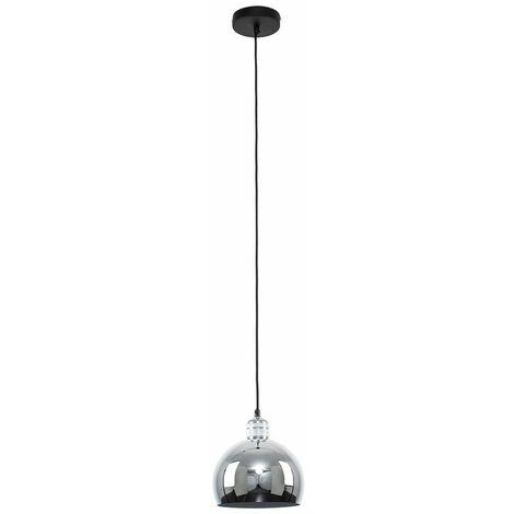 Silver Ceiling Lampholder + Chrome Light Shade