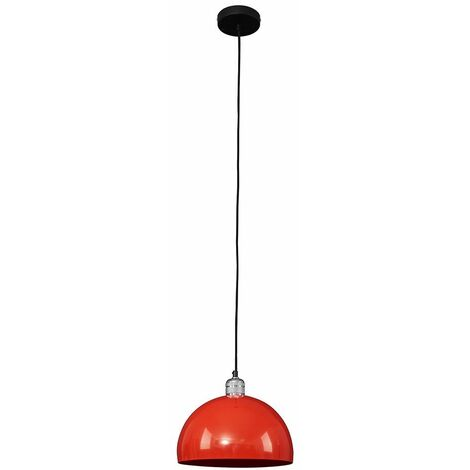 Silver Ceiling Lampholder + Red Light Shade