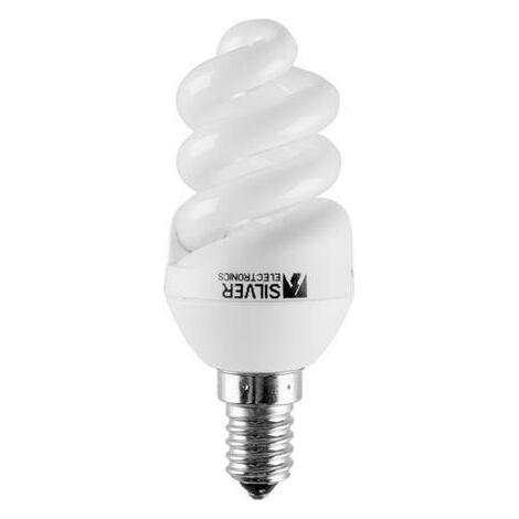 Silver Electronics Bombilla Bajo Consumo Mini Full Espiral 23W E27 2700K (PVC)