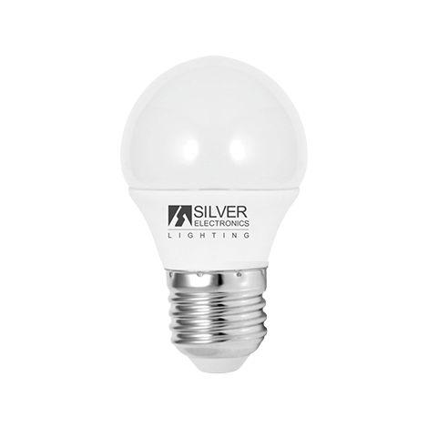 Silver Electronics Bombilla LED Eco Esferica 5W E14 3000K