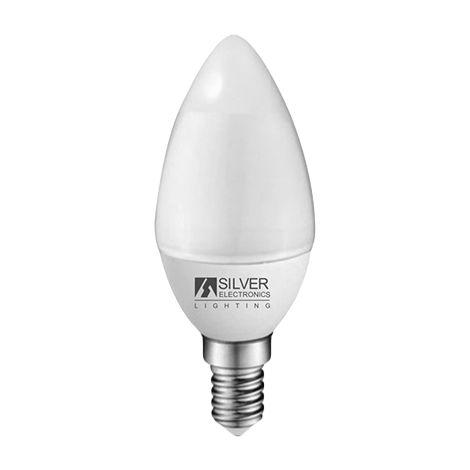 Silver Electronics Bombilla LED Eco Vela 5W E14 3000K