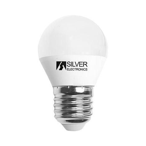 Silver Electronics Bombilla LED Esferica 5W E27 12V 5000K