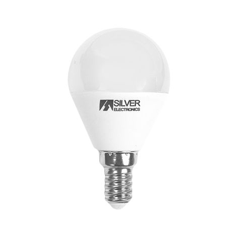 Silver Electronics Bombilla LED Esferica regulable 5W E14 3000K