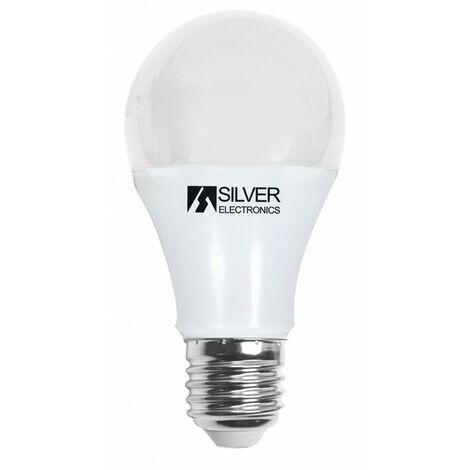 Silver Electronics Bombilla LED Estandar regulable 8W E27 3000K
