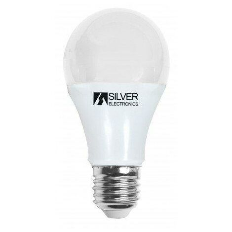 Silver Electronics Bombilla LED Estandar regulable 8W E27 3000K
