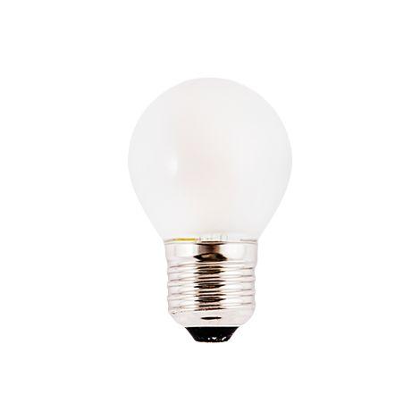 Silver Electronics Bombilla LED Filamento Mate Esferica 3W E14 3000K