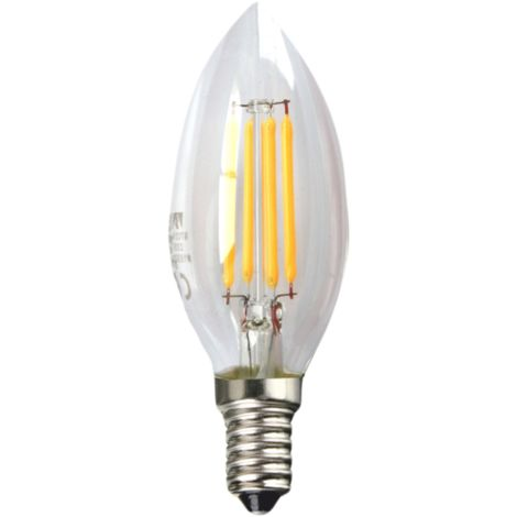 Silver Electronics Bombilla LED Filamento Transparente Globo 6W E27 3000K