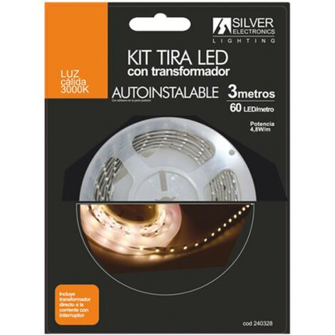 Silver Electronics Kit tira LED 3m 4.8W/m 3000K