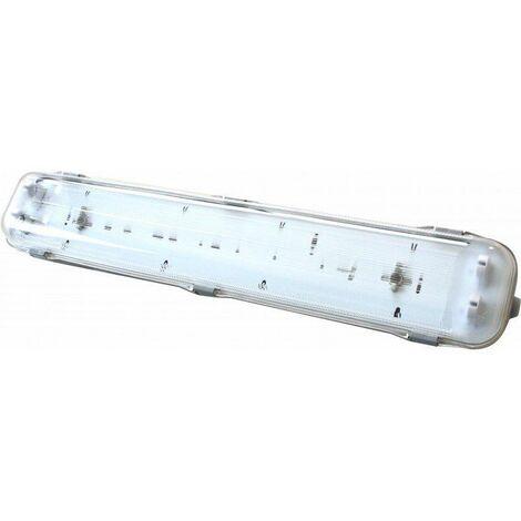 Silver Electronics Pantalla VISE IP65 para tubo LED 2x1200mm sin reac.