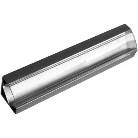 Silver Electronics Perfil Aluminio 1m Difusor Opal Empotrable