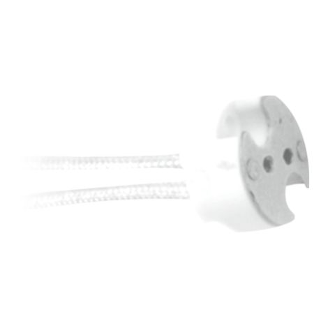 Silver Electronics Portalamparas GU10 230V 15cm (embolsado en 50 unidades)