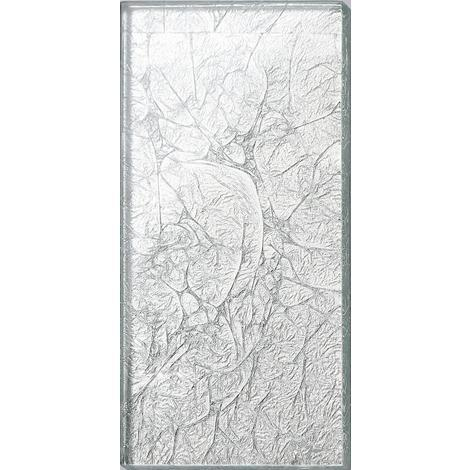 Silver Foil Glass Bathroom Kitchen Splashbacks Mosaic Metro Tiles MT0114